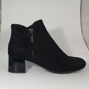 The Flexx Black Suede Ankle Boot